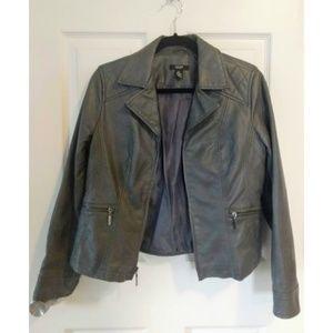 Alfani Petite Faux Leather Jacket